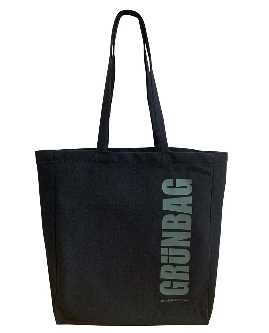 Black GRÜNBAG Tote grey logo-04