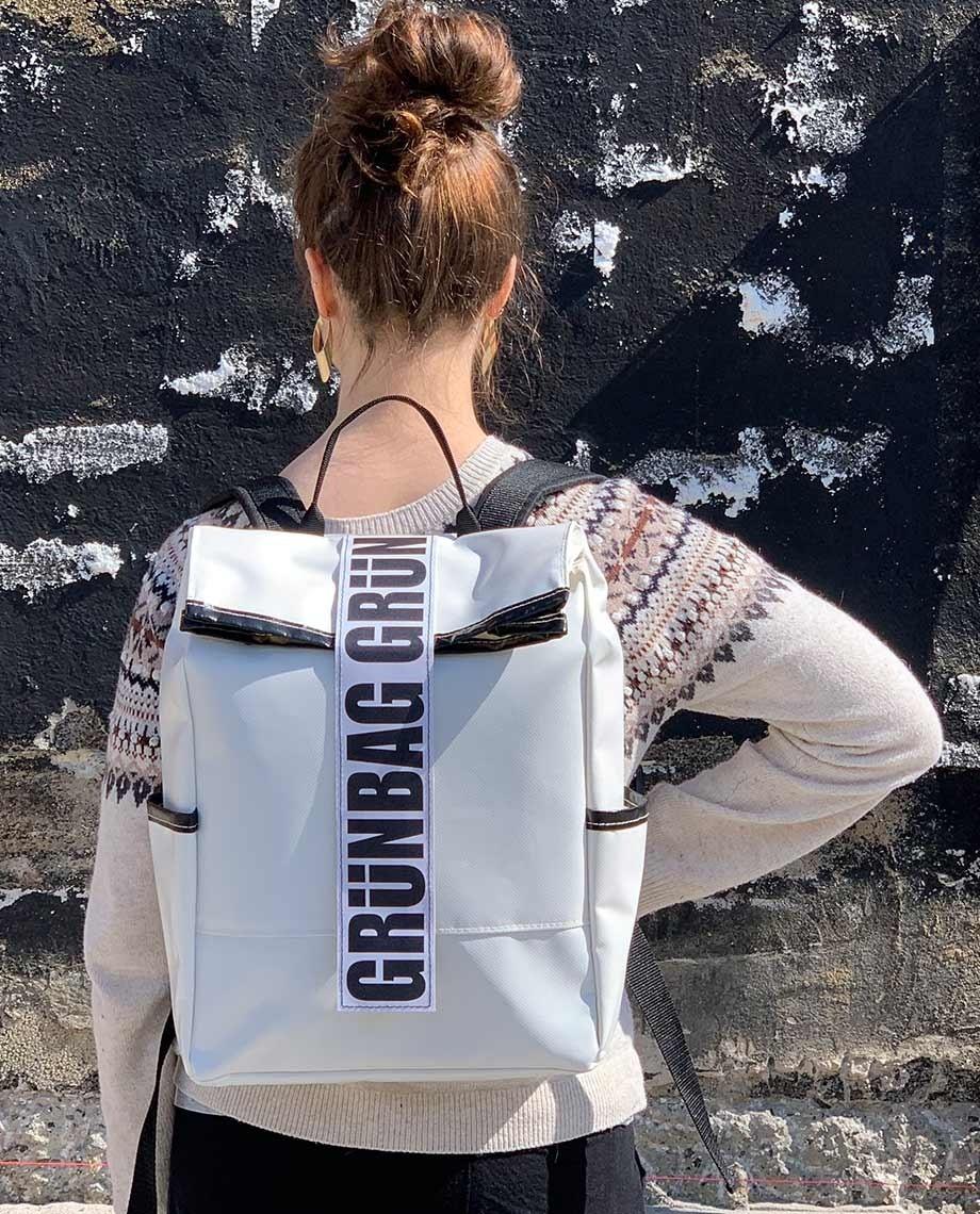 White Backpack Alden